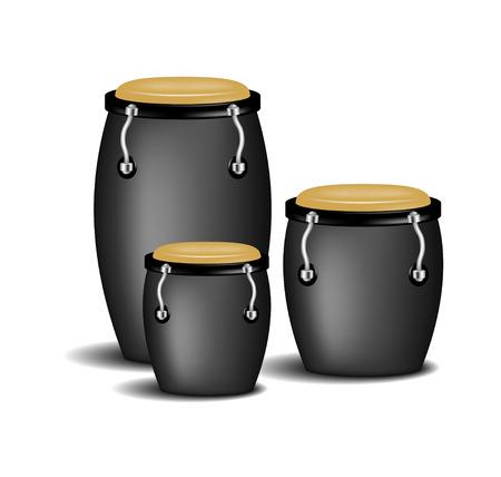salsa dance: Congas band in black design