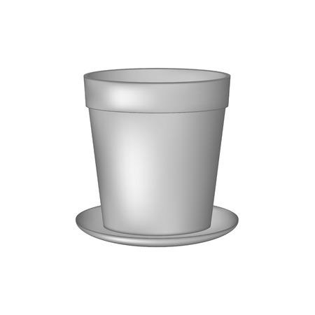 flowerpots: Empty flowerpot in grey design