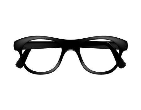 Retro glasses frame in dark design without lenses Illustration