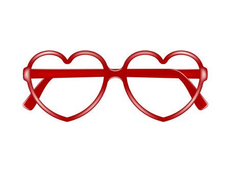 Sun glasses frame in shape of heart Vector