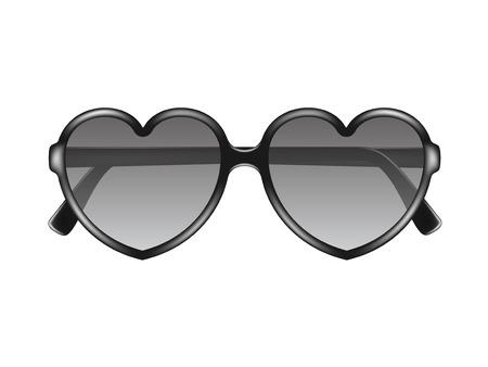 Sun glasses in shape of heart Vector