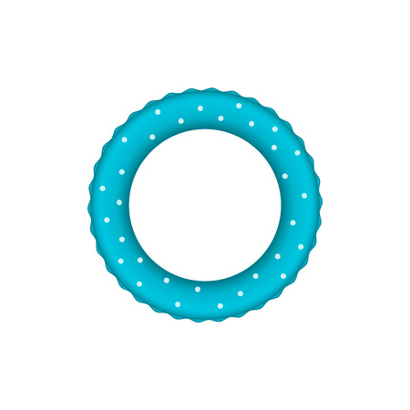Blue pool ring with white dots Illustration