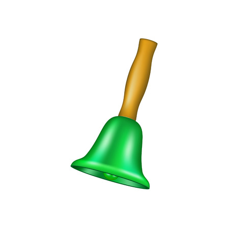handbell: Bell with wooden handle Illustration