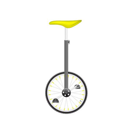 circus bike: Bicicleta de circo en el dise�o negro y plata con asiento amarillo Vectores