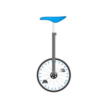 circus bike: Bicicleta de circo en el dise�o negro y plata con asiento azul Vectores