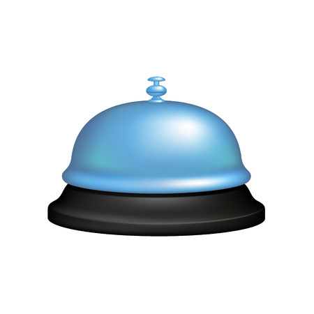 service bell: Service bell in black and blue design