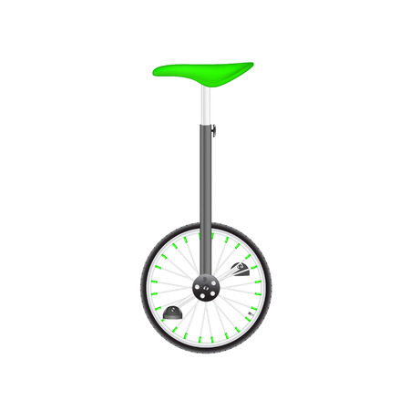 circus bike: Circus bike in black and silver design with green seat Illustration