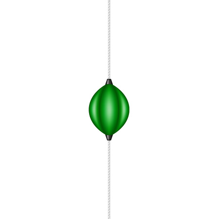 springy: Punching bag holding by elastic rope