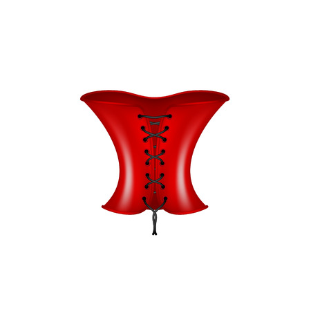 red corset: Corset in red and black design