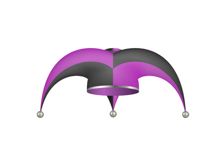 jester hat: Jester hat in black and purple design