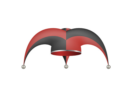 jester hat: Jester hat in black and red design