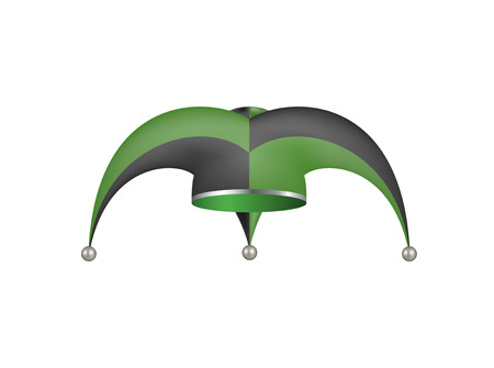 jester hat: Jester hat in black and green design