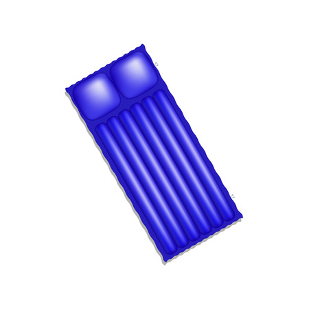 mattress: Air mattress in blue design