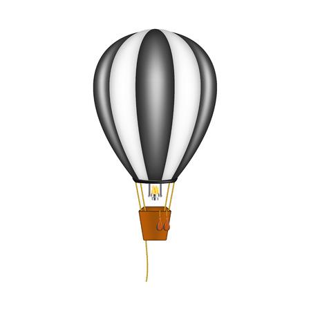 travel burner: Hot air balloon in black and white design