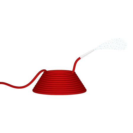 jet stream: Manguera de jardín en rojo chorros de agua de diseño
