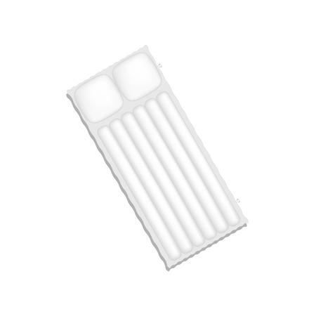 mattress: Air mattress in white design with shadow