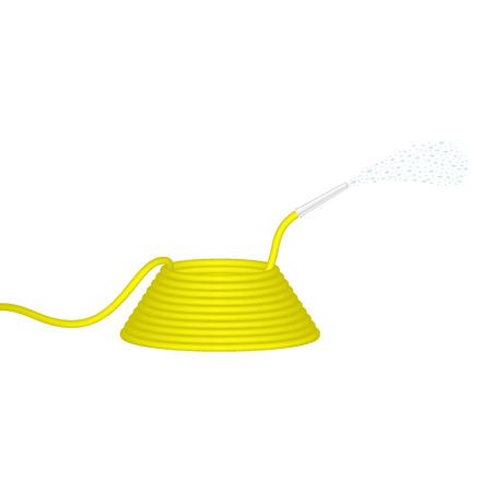 Garden hose in yellow design squirts water