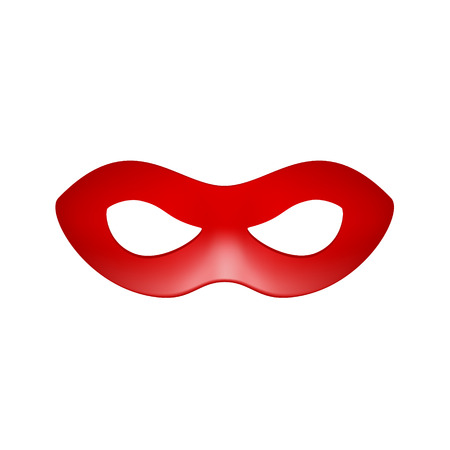 Eye mask in red design