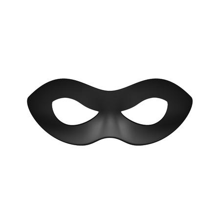 masque: Eye mask in black design Illustration