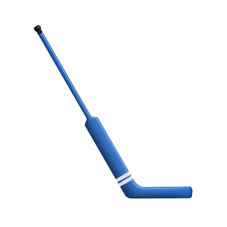 hockey: Hockey stick for goalie in blue design