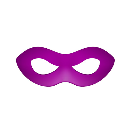 decoration decorative disguise: Eye mask in purple design Illustration