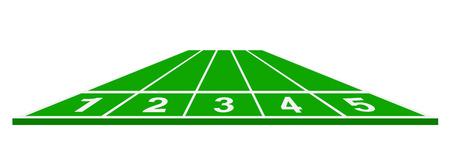 running track: Atletiekbaan in groen design