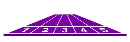 running track: Running track in purple design