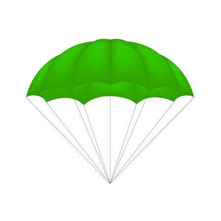 fallschirm: Parachute in grünes Design Illustration
