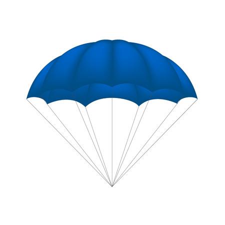 blue design: Parachute in blue design Illustration