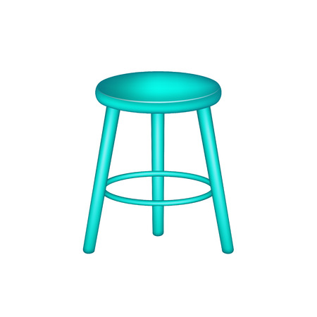 stool: Retro stool in turquoise design
