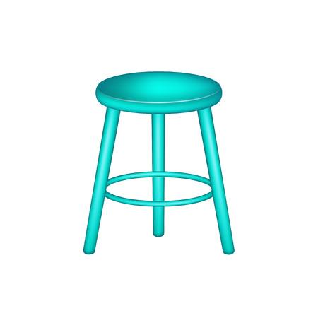 Retro stool in turquoise design