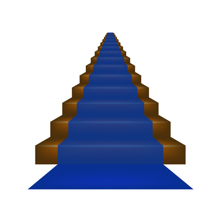 prestige: Stairs covered with blue carpet