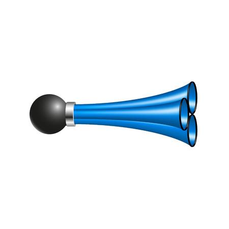 triple: Triple air horn in blue design