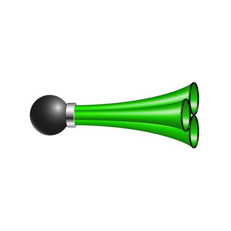 triple: Triple air horn in green design