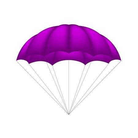 parachuting: Parachute in purple design