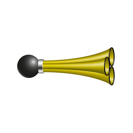 triple: Triple air horn in orange design