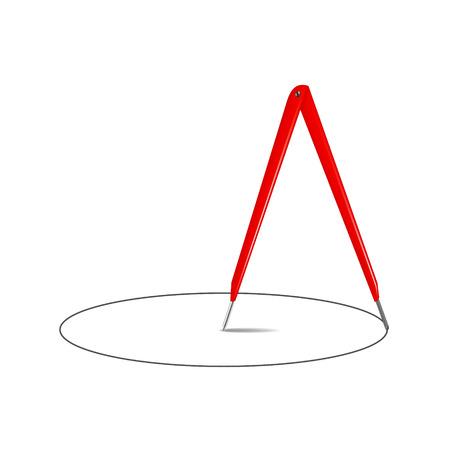 compas de dibujo: Comp�s de gr�fico en el dise�o y el c�rculo de la vendimia
