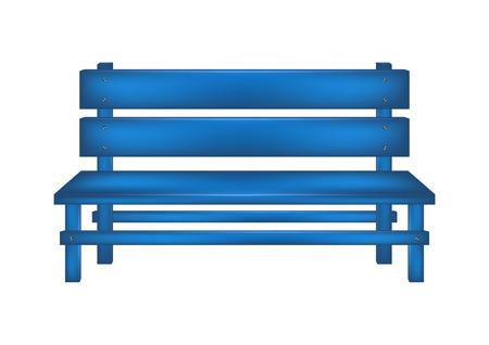 garden chair: Rural bench in blue design Illustration