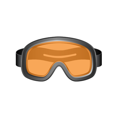 eyeglass: Ski sport goggles in dark design