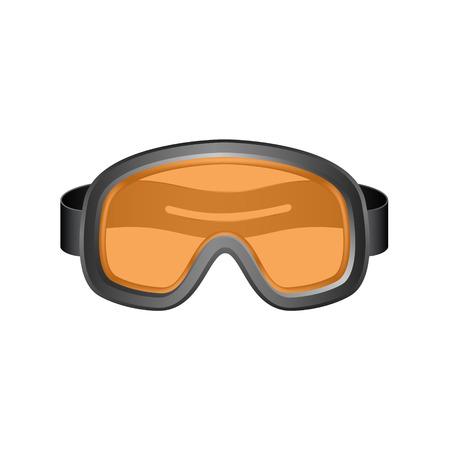 Ski Sportbrille in dunkler Entwurf Vektorgrafik
