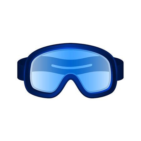 safety goggles: Ski sport goggles in dark blue design