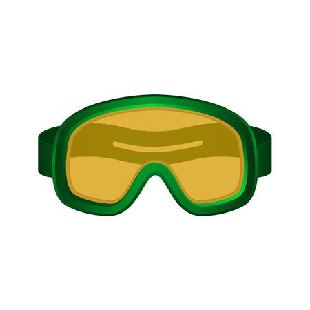 dark green: Ski sport goggles in dark green design Illustration