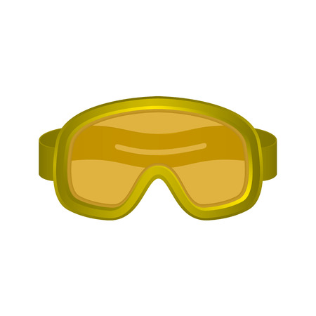 safety goggles: Ski sport goggles in orange design