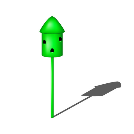 agrario: Palomero en dise�o verde con la sombra