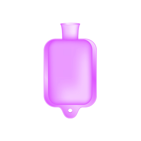 hot water bottle: Hot water bottle in light purple design