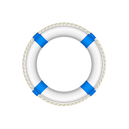 Life buoy in white and blue design