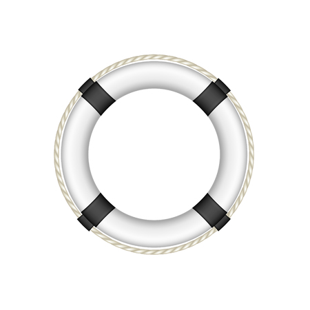 buoy: Life buoy in white and black design Illustration