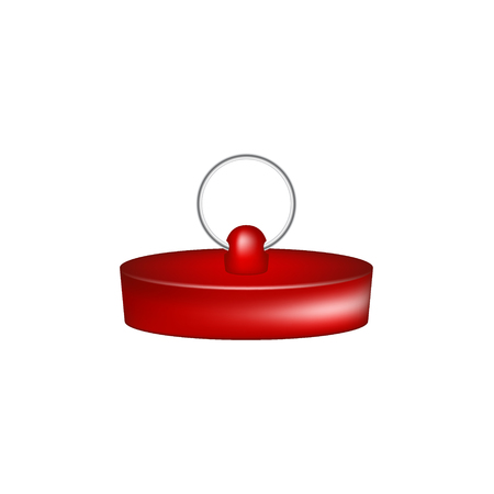 stopper: Rubber plug in red design
