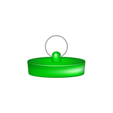unplug: Rubber plug in green design Illustration