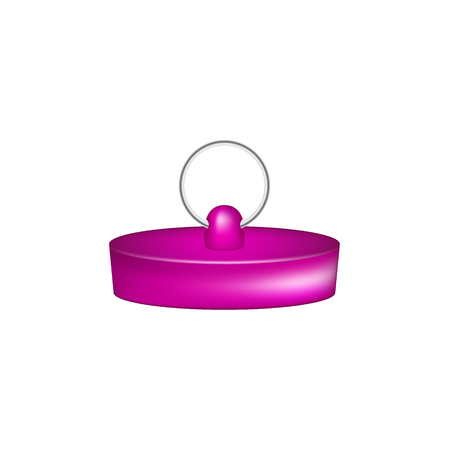 stopper: Rubber plug in purple design